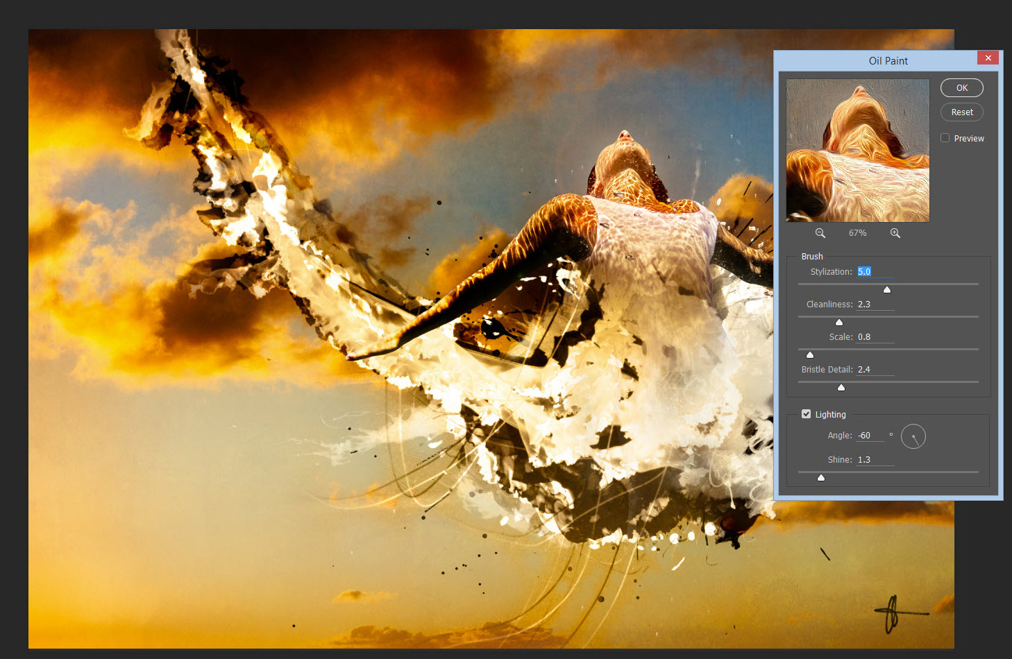 photoshop oil filter
